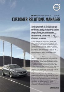 Vacaturen Customer Relations manager